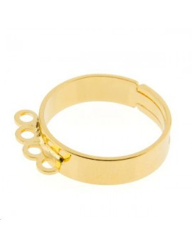 Bague 4 anneaux doré