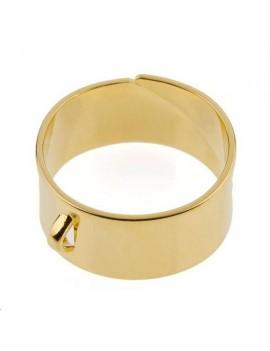 Bague 8mm avec anneau doré