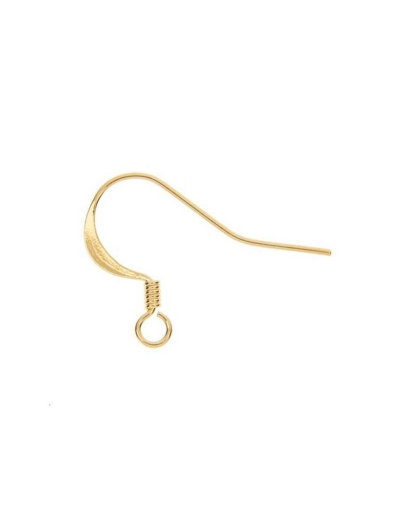 Crochets d'oreilles 15mm doré vendus par paire