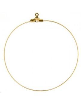 Créoles ouvertes 55mm avec anneau