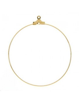 Créoles ouvertes 50mm avec anneau doré vendues par paire