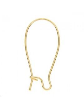 Crochets d'oreilles 25mm doré vendus par paire