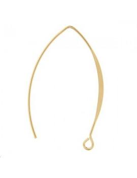 Crochets d'oreilles arc 38mm 1 anneau doré vendus par paire