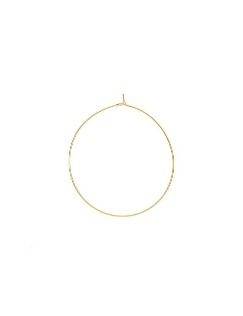 Créoles 40mm 1 anneau doré vendues par paire