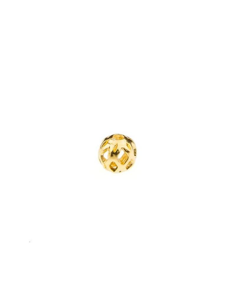 Boule ajourée 4mm doré