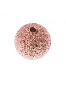 Boule diamantée 10mm or rose