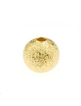 Boule diamantée 8mm doré