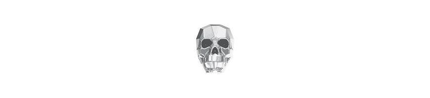 Perles tête de mort Swarovski (5750)