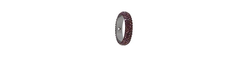 Pave ring 18.5mm 1 trou