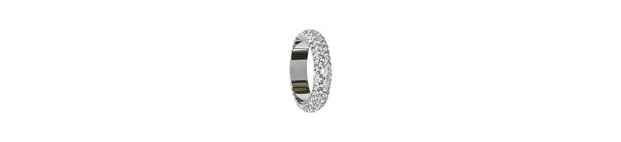 Pave ring 18.5mm 2 trous