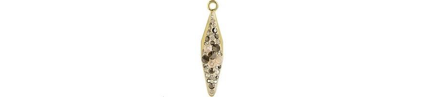Pave pendants goutte losange (67482)