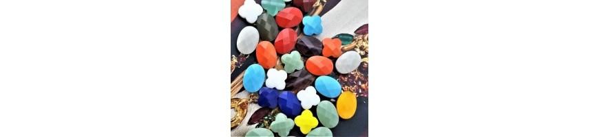 Les perles en verre facettées