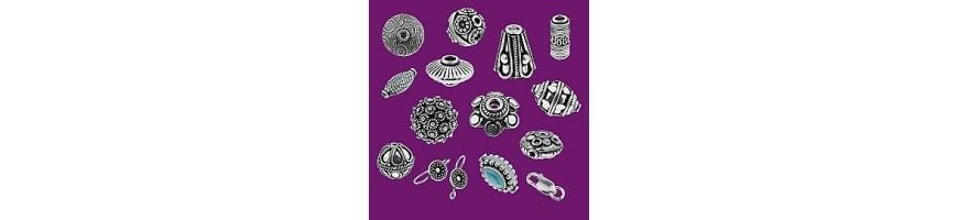 Perles, fermoirs, boucles d'oreilles et apprêts en argent 925