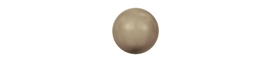Perles nacrées 12mm trou large