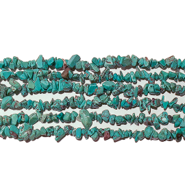Les rangs de perles en pierre fine